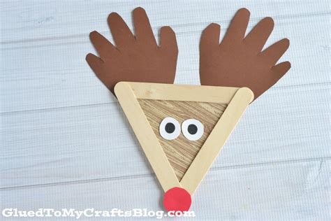 popsicle stick kid crafts popsicle stick reindeer kid craft glued to my crafts