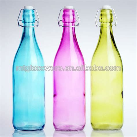 coloured wholesale wholesale colored glass water milk bottle with stopper and