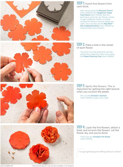 how to make flowers for cards stin up stin up scrunched flower ad post by