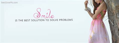 cover photo smile is the best solution fb cover photo