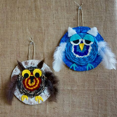 crafts projects for woven owl craft crafts