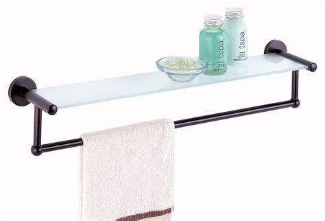small glass bathroom shelves glass shelf bathroom image