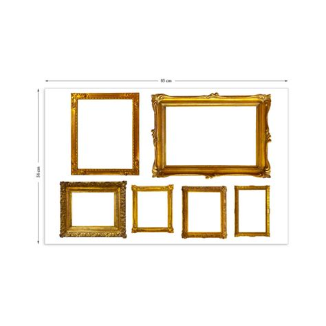 frame wall sticker gold photo frames wall stickers by the binary box
