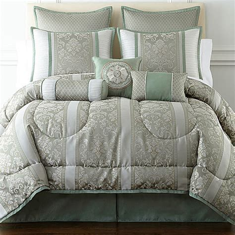 comforter sets at jcpenney jcpenney home expressions chopin 7 pc jacquard comforter
