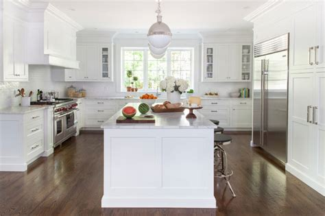 Chic Home Design Llc New York white transitional kitchen transitional kitchen new