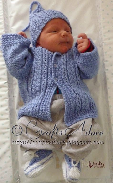 free knitted baby sweater patterns boys craftsadore quot handsome cables quot knitted baby boy cardigan