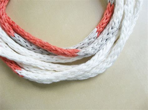 how to knit a necklace knitted cord necklace how did you make this luxe diy