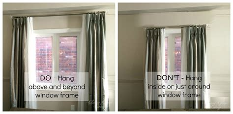 how low should curtains hang how to hang draperies not the dollhouse way