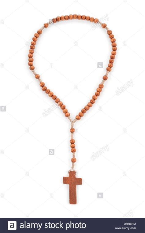 who uses rosary wooden plain rosary on white background prayer use