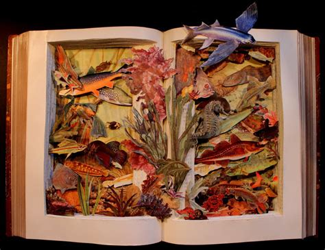collage illustrations in picture books kerry miller s intricately carved 3d artworks from books