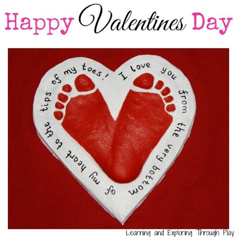 valentines craft projects salt dough footprint keepsake ted s