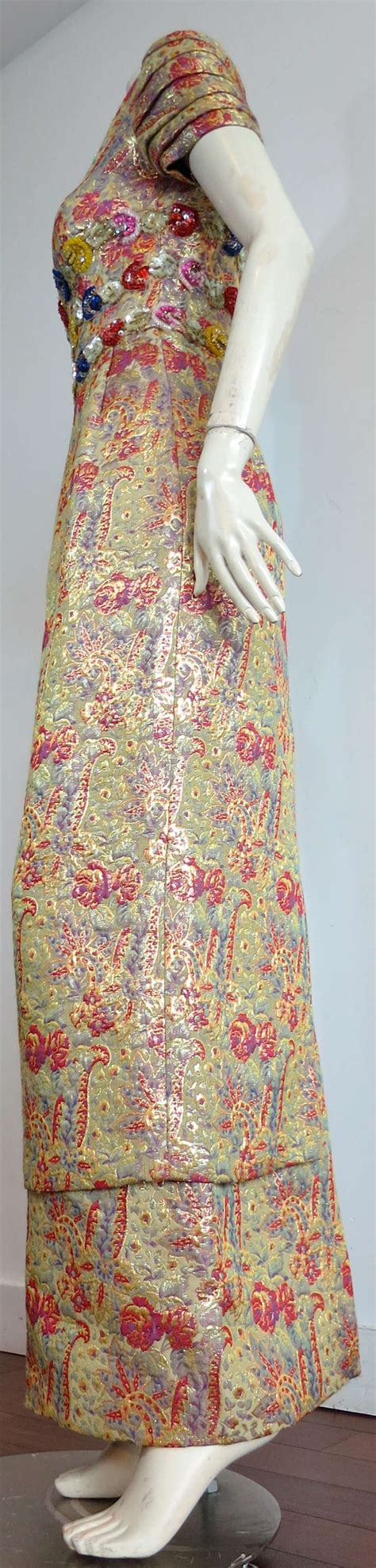 vintage beaded dresses for sale vintage beaded brocade evening dress for sale at 1stdibs