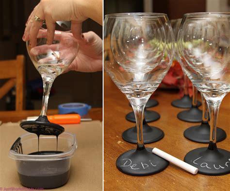 diy chalk paint glasses how to make personalized chalkboard wine glasses diy