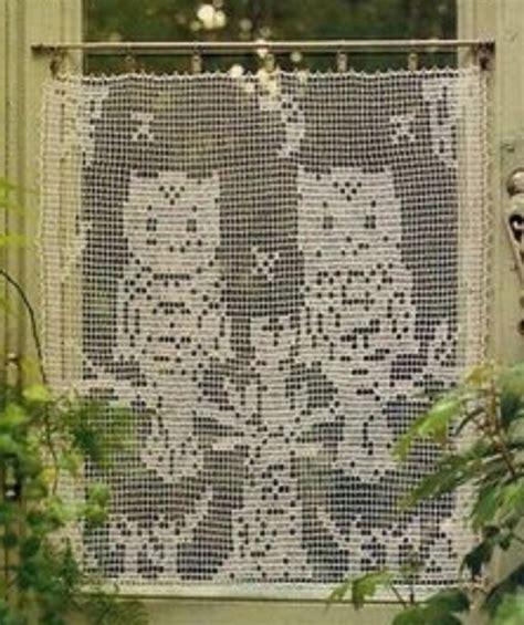 crochet rideau en filet les chouettes tutoriel gratuit le de crochet et tricot d de