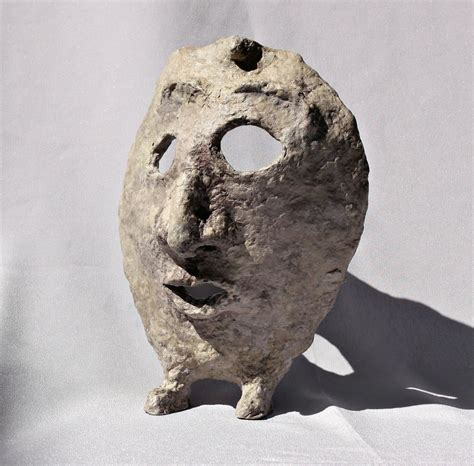 paper mache file paper mache mask with with grey background jpg