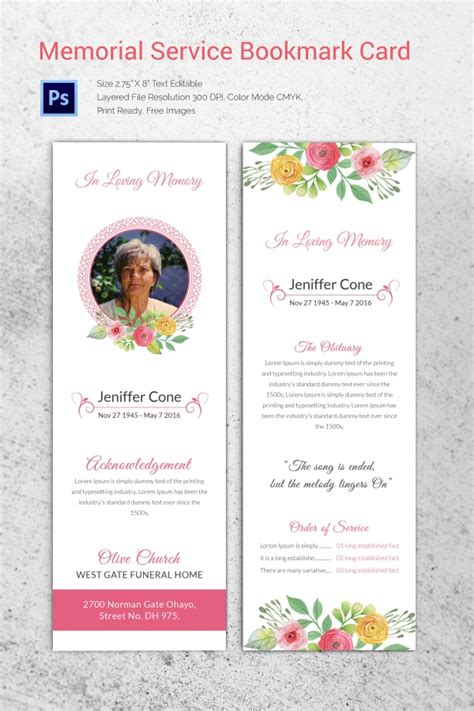 how to make a funeral memorial card 20 funeral program templates free word excel pdf psd