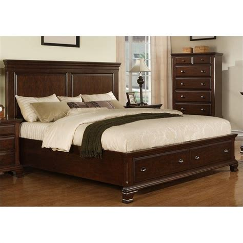 storage beds for picket house furnishings canton storage bed in cherry