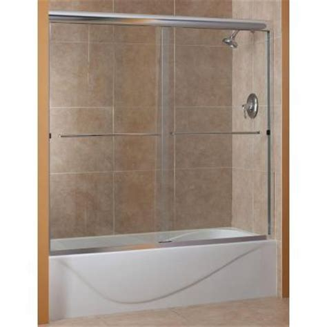 bathtub shower doors home depot foremost cove 60 in x 60 in semi framed sliding tub door
