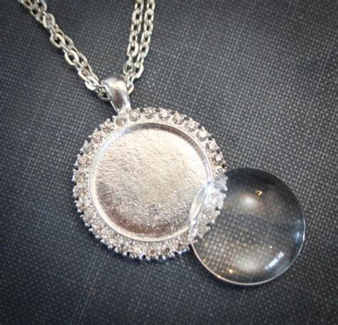 blank pendants for jewelry 1 kit rhinestone blank pendant glass and necklace