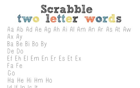 two letter words scrabble list the clantoons scrabble