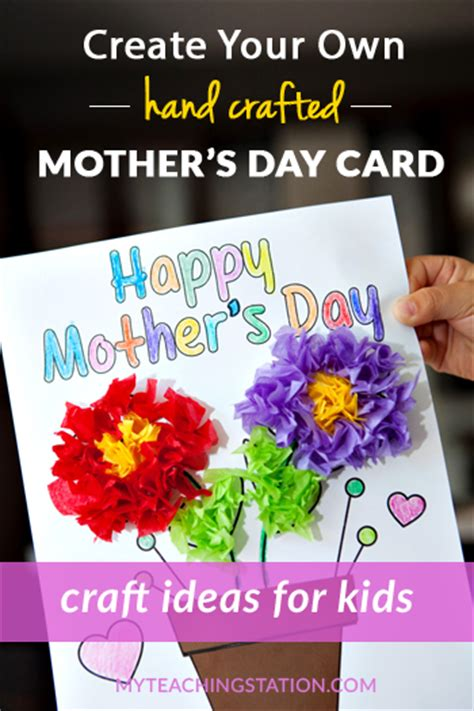 mothers day cards ideas for children to make easy s day card craft activity for