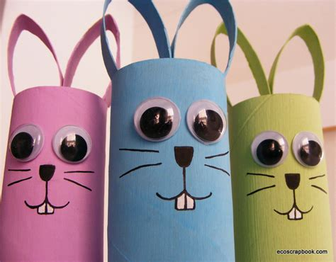 bunny toilet paper roll craft crafts archives