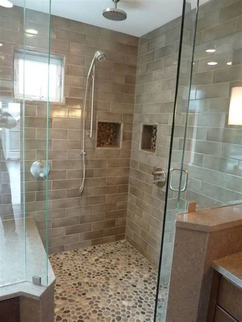 27amazing bathroom pebble floor tiles ideas and pictures
