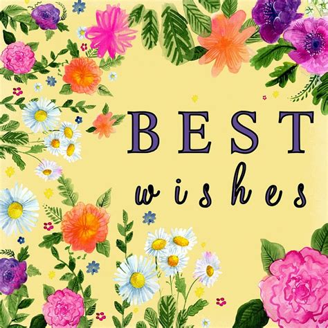 best free free illustration best wishes yellow flower free