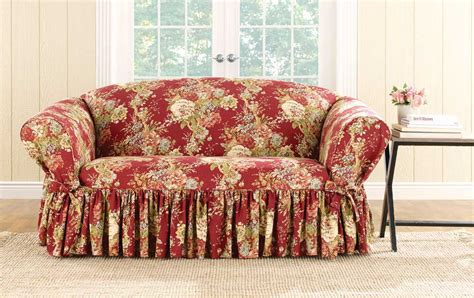 waverly sofa slipcovers surefit ballad bouquet by waverly slipcover