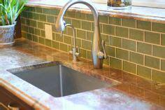 green glass subway tile backsplash chiseled edge choice granite los angeles ca interior