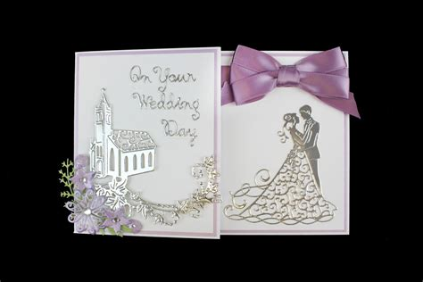 how to make a wedding card how to make a die cut wedding card hobbycraft