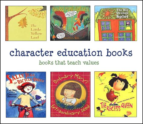 using picture books to teach character traits character education books best children s books for