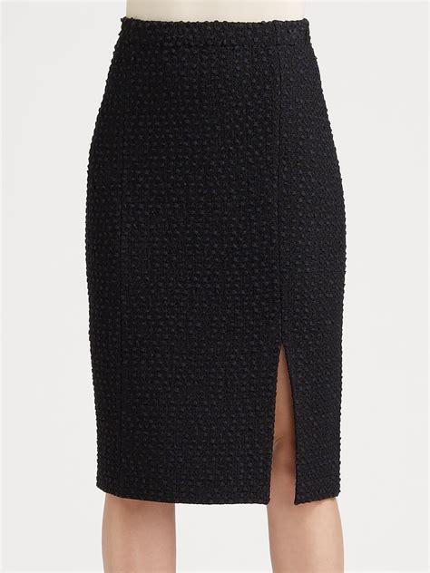 knit pencil skirts st textured knit pencil skirt in black caviar lyst