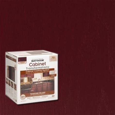 home depot cabinet paint kit rust oleum transformations 1 qt cabernet cabinet small