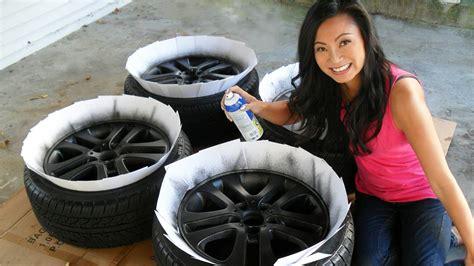 spray painting rims black how to plasti dip car rims matte black wheels