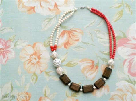 diy beaded necklace diy chunky beaded statement necklace