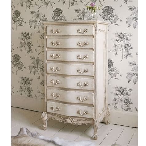 chabby chic bedroom furniture delphine shabby chic antique white tallboy