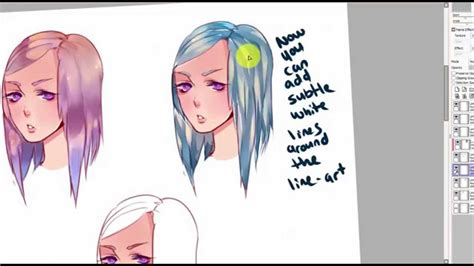 paint tool sai hair tutorial hair coloring tutorial 3 different ways to color paint