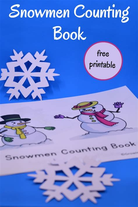 printable picture books snowmen counting book free printable