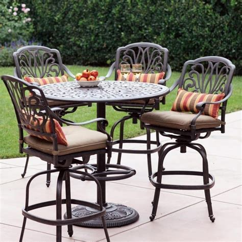 bar height patio dining set furniture counter height outdoor dining sets polywood
