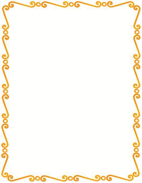 tangerine spirals border   /page frames/spiral border/tangerine spirals border.png.html