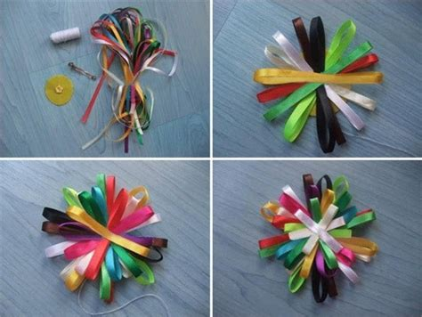 ribbon projects crafts ribbon crafts for of rainbow hair clip 183 how to make