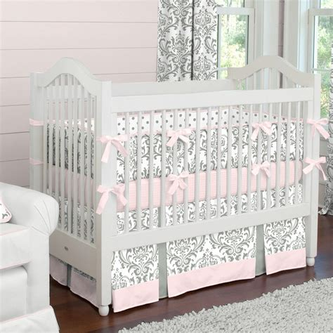 nursery bedding set pink and gray traditions crib bedding baby bedding