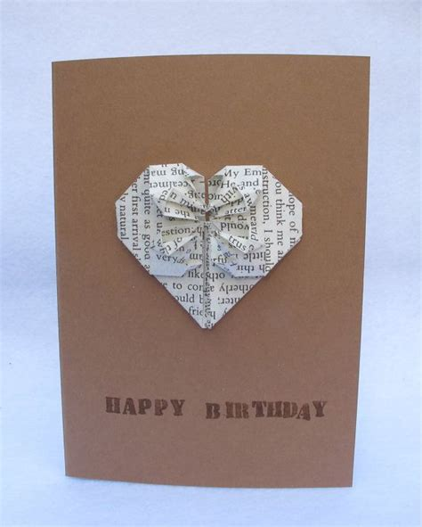 origami birthday card a handmade origami birthday card wedding