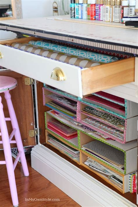 organizing craft paper diy scrapbook paper organizer in my own style