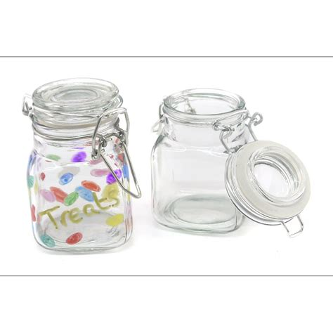 acrylic paint jar lids glass jar with clip lid 8cm glass and acrylic crafts
