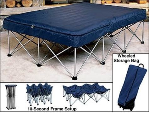 folding bed frame for air mattress folding air bed frame