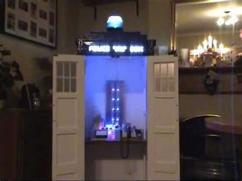 The Cabinet Doctor half size homemade police box tardis from doctor who