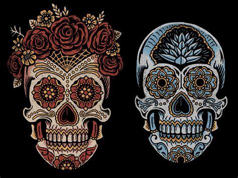 sugar skull ah puch mexico dia de los muertos