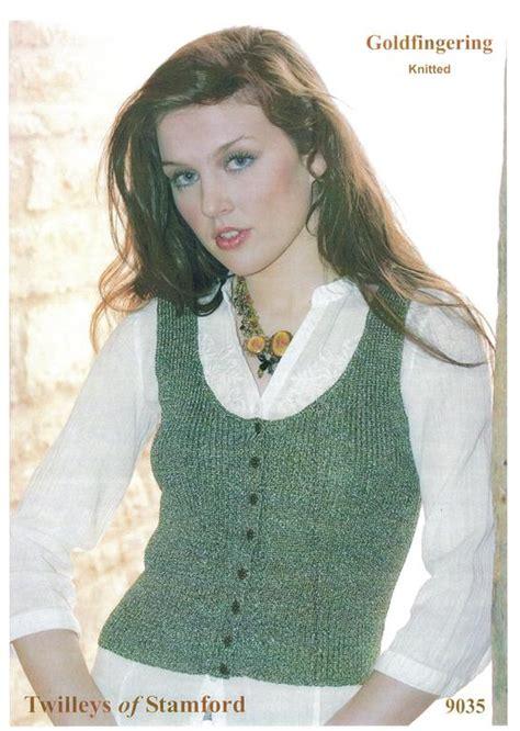 knitting pattern for waistcoat twilleys goldfingering knitted waistcoat knitting
